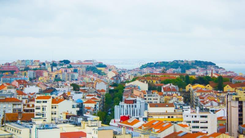 Panorama de Lisbonne, Portugal image stock