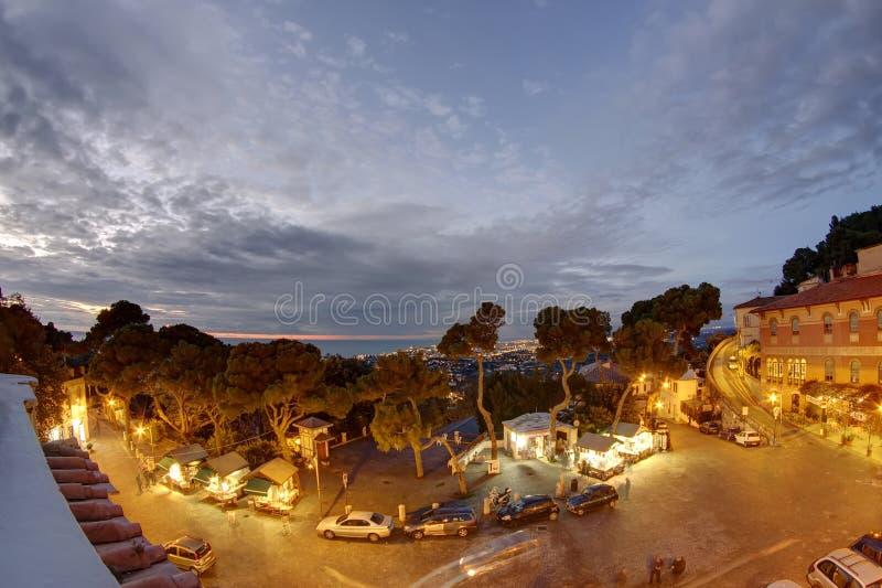 Panorama de Livorno, Itália imagem de stock