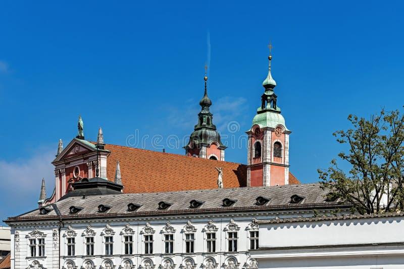 Panorama de Ljubljana images libres de droits