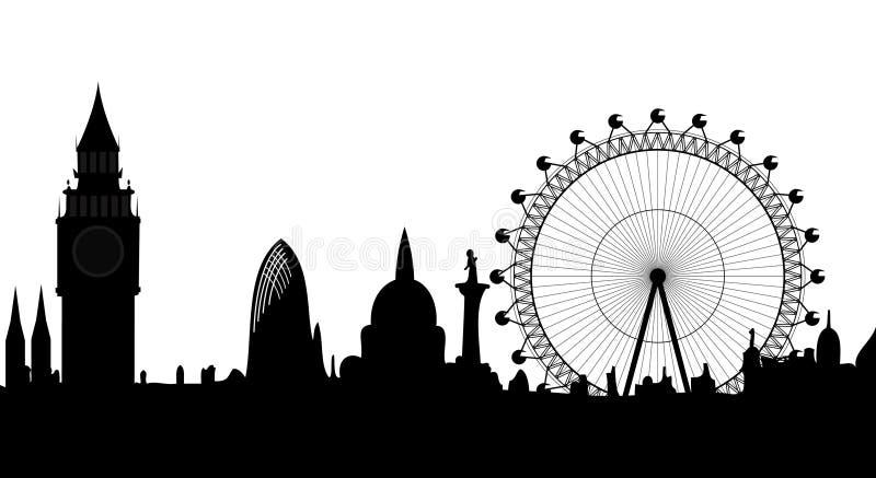 Panorama de Londres ilustração stock