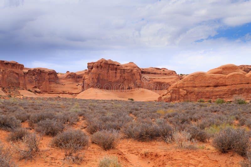 Panorama de los arcos parque nacional, Utah EE.UU. fotografía de archivo libre de regalías