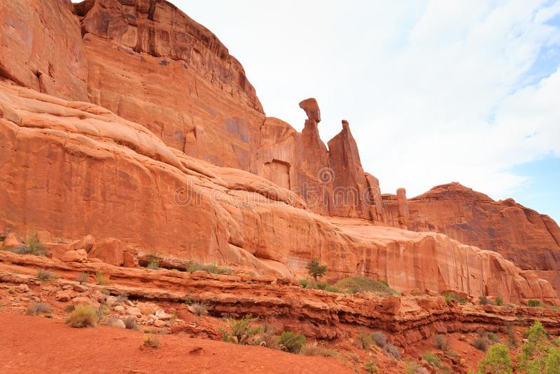 Panorama de los arcos parque nacional, Utah EE.UU. foto de archivo
