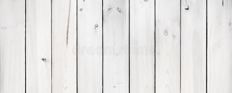 Panorama de los tablones de madera blancos imagen de archivo