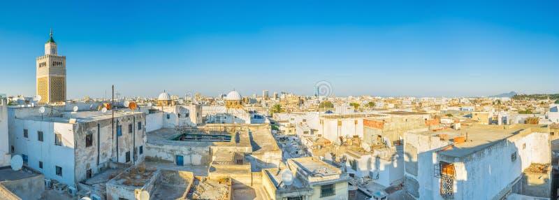 Panorama de los tejados de Túnez fotografía de archivo libre de regalías
