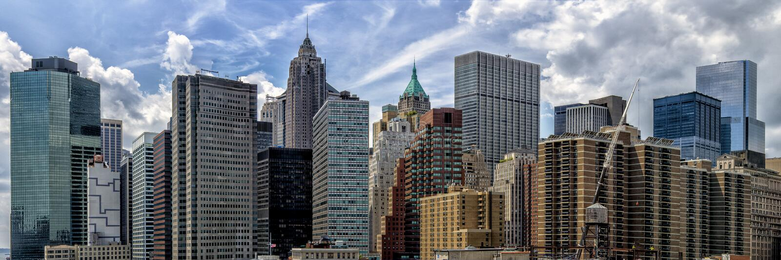 Panorama de Lower Manhattan photo stock
