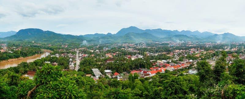Panorama de Luang Prabang imagen de archivo libre de regalías