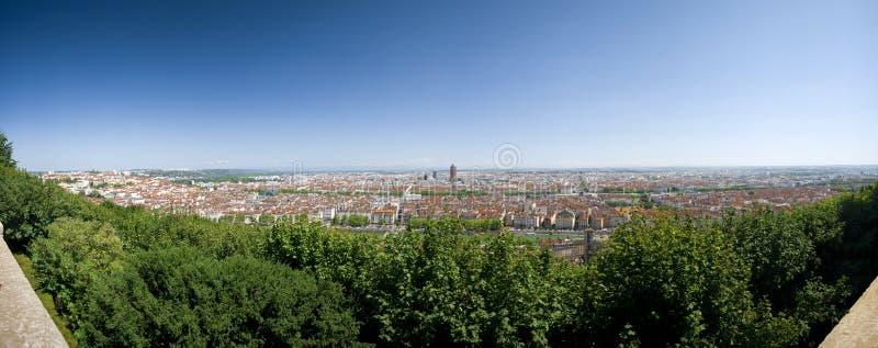 Panorama de Lyon photos libres de droits