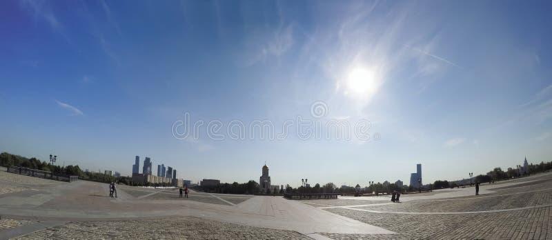 Panorama de mémorial de guerre en Victory Park sur la colline de Poklonnaya, Moscou, Russie photo libre de droits