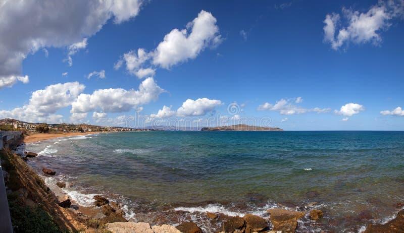 Panorama de marina d'Agia image libre de droits