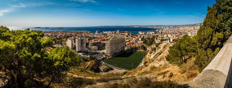 Panorama de Marsella fotografía de archivo
