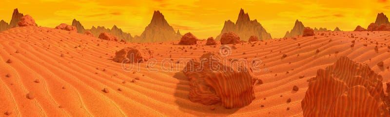 Panorama de Marte ilustração royalty free