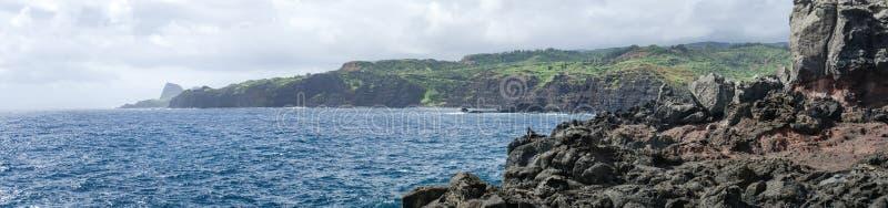 Panorama de Maui& x27; litoral de s imagens de stock royalty free