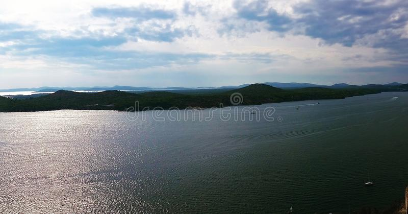 Panorama de mer image stock