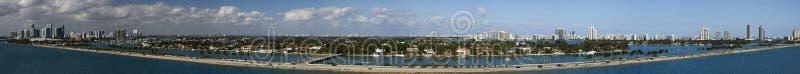 panorama de Miami photographie stock