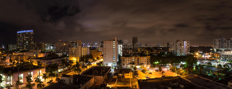 Panorama de Miami Beach images stock