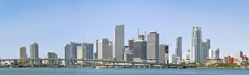 Panorama de Miami céntrica imagen de archivo libre de regalías