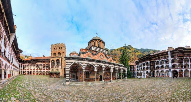 Panorama de monastère de Rila images stock