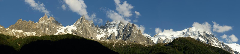 Panorama de Mont Blanc images stock