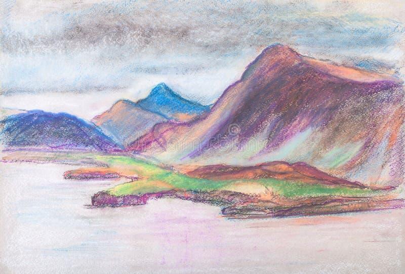 Panorama de montañas stock de ilustración