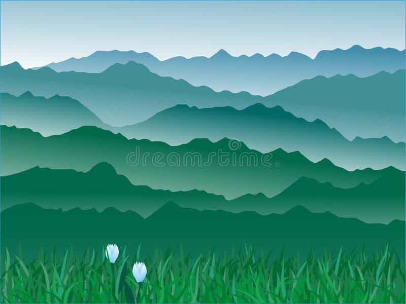 Panorama de montañas ilustración del vector