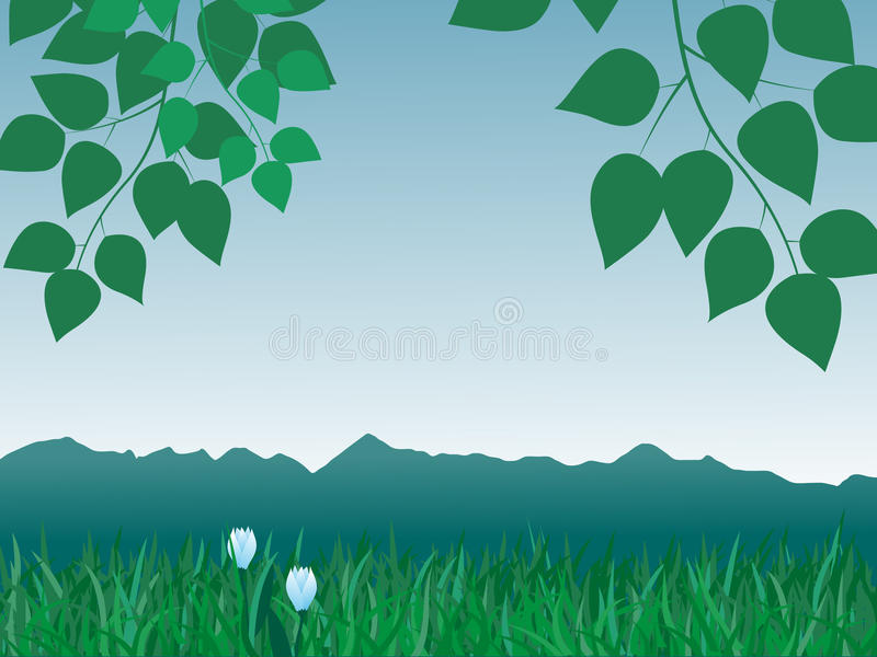 Panorama de montañas libre illustration