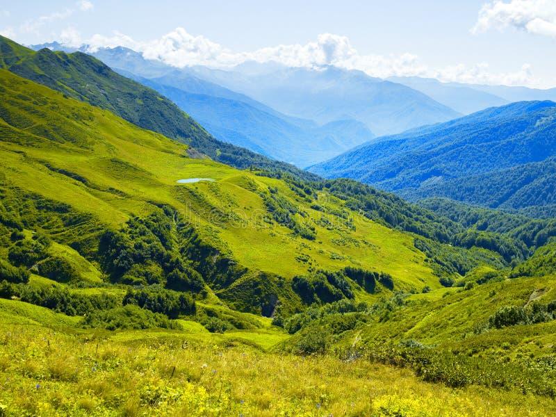 Panorama de montagne photos libres de droits