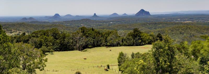 Panorama de montagne de serre image stock