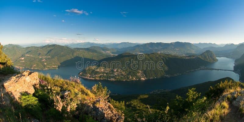 Panorama de Monte san Jorge imagen de archivo