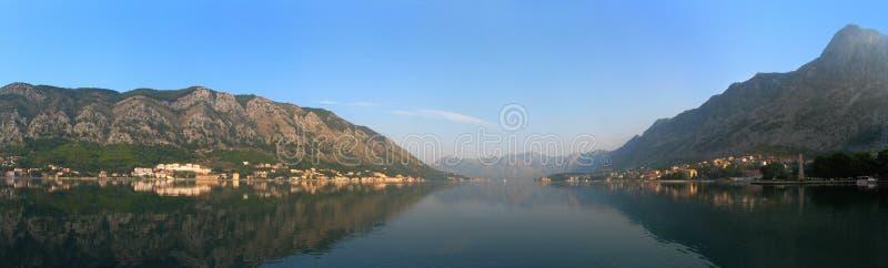 Panorama de Montenegro fotografia de stock
