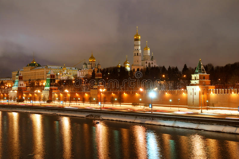 Panorama de Moscú Kremlin imagen de archivo libre de regalías