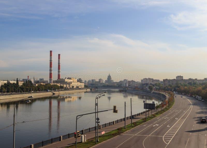 Panorama de Moscovo imagens de stock