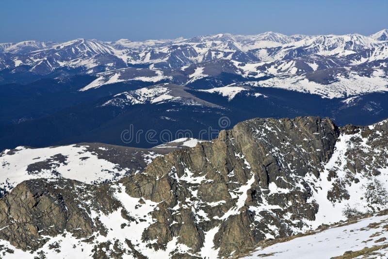 Panorama de Mt Evans imagens de stock royalty free