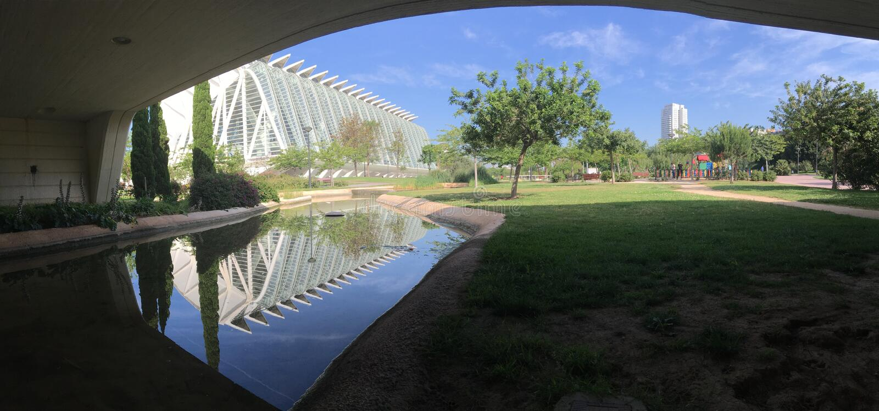 Panorama de Museo de las Ciencias PrÃncipe Felipe foto de stock royalty free