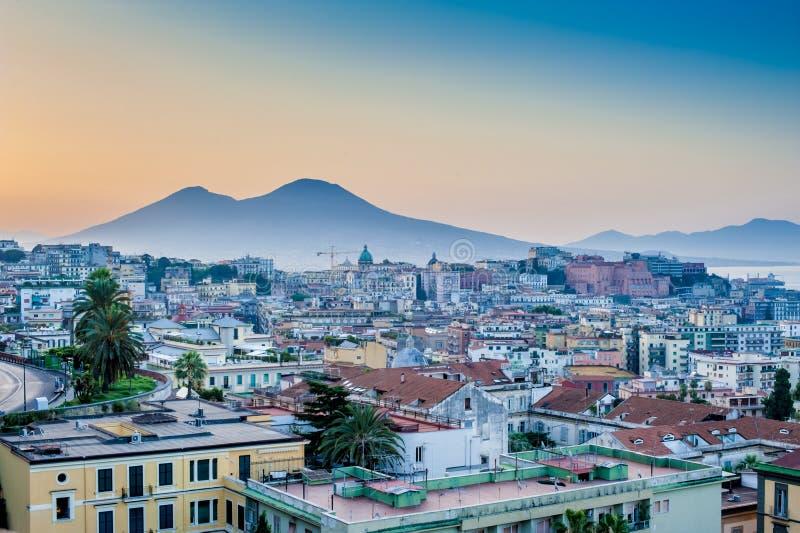 Panorama de Nápoles foto de stock royalty free