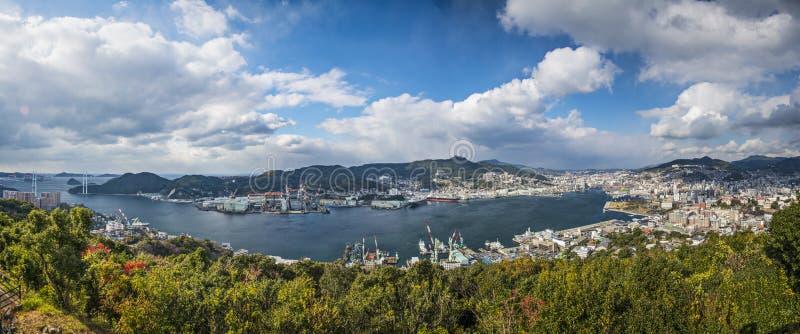 Panorama de Nagasaki, Japon image libre de droits