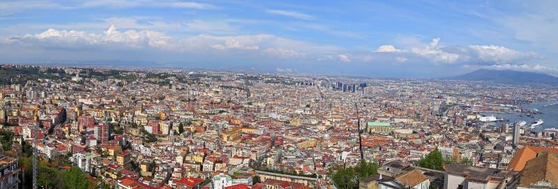 Panorama de Naples - l'Italie image stock