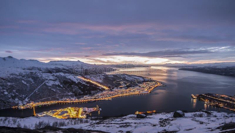 Panorama de Narvik fotografía de archivo