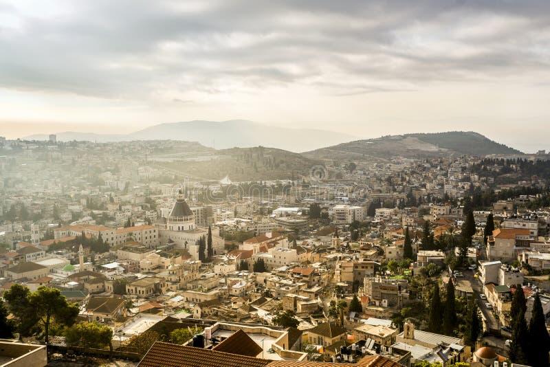 Panorama de Nazareth, Israel imagens de stock royalty free