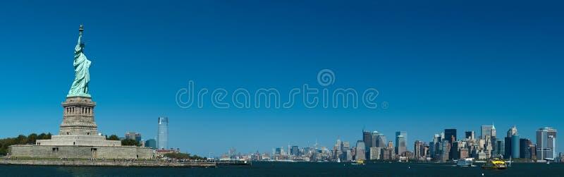 Panorama de New York images libres de droits