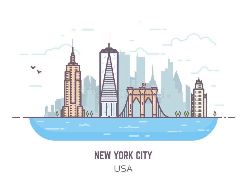 Panorama de New York illustration de vecteur