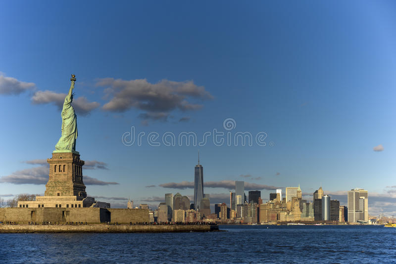 Panorama de New York City imagens de stock