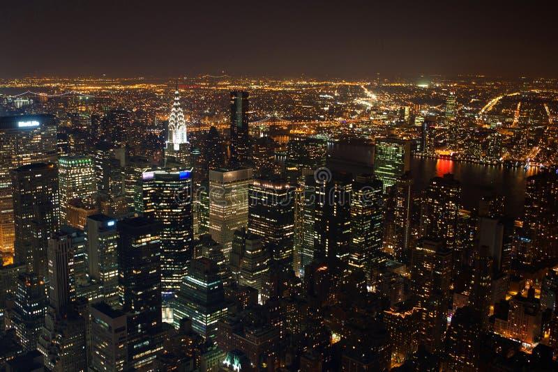 Panorama de New York City Manhattan fotografia de stock royalty free