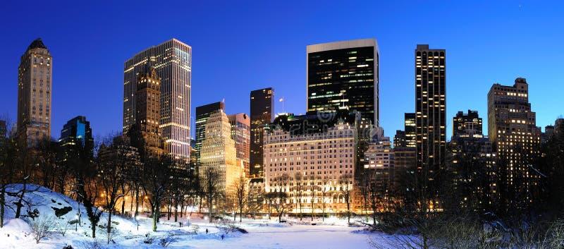Panorama de New York City Manhattan Central Park fotos de stock