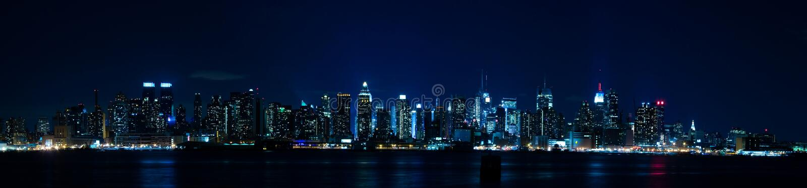 Panorama de New York - skyline de Manhattan fotografia de stock