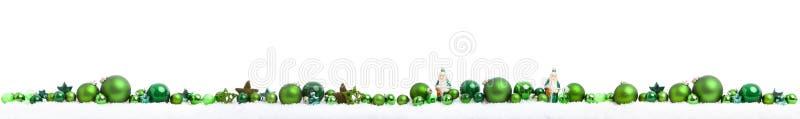 Panorama de Noël sur le blanc images libres de droits