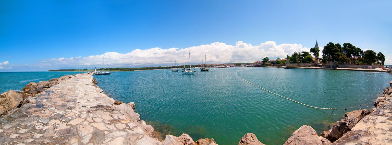 Panorama de Novigrad Croatie image libre de droits
