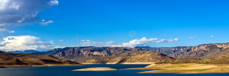 Panorama de NRA de Curecanti près de la ville de Gunnison dans le Colorado image libre de droits