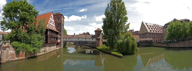Panorama de Nuremberg imagens de stock