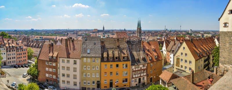 Panorama de Nurnberg imagenes de archivo
