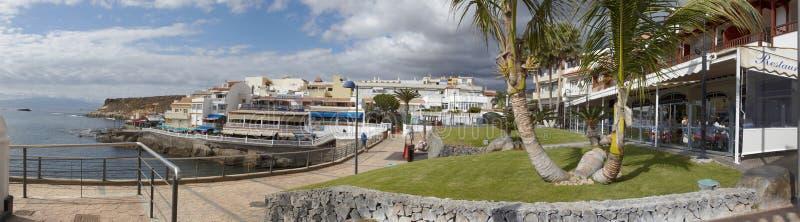 Panorama de Océano Atlántico y de la playa del La Caletta, Tenerife imagen de archivo libre de regalías